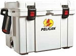 65 Quart Pelican ProGear Elite Marine Ice Chest / Cooler (white)