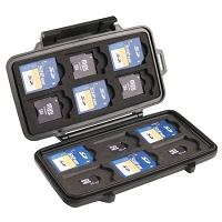 Pelican 0915 Memory Card Case- Color: BLACK