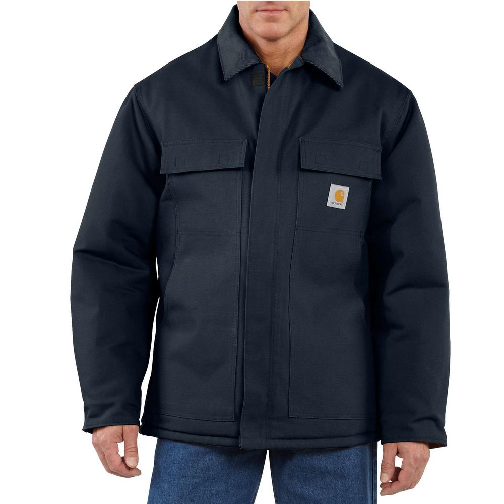 Carhartt Coats: Men's C003 DNY Navy Quilt Lined Artic Winter Coat