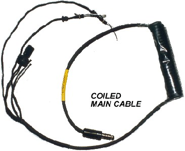 Helicopter Helmet Main Comm Cord - Coiled for SPH Type Helmets