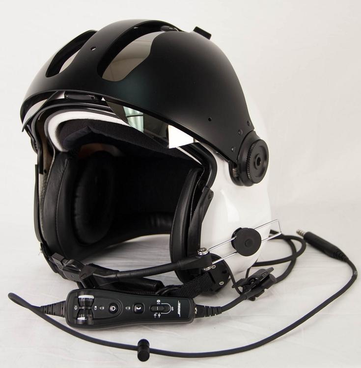 Evolution 252 Helicopter Helmet With Nvg Carbon Fiber