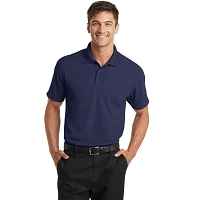 Port Authority K572 Dry Zone Grid Polo Embroidered with Logo - COLOR: NAVY