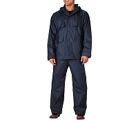ROTHCO NAVY-BLUE 2-PC PVC COATED NYLON RAINSUIT