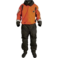 SENTINEL SERIES HEAVY DUTY BOAT RESCUE DRY SUIT WITH AJUSTABLE NECK SEAL AND DROP SEAT