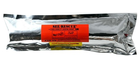 SEE/RESCUE STREAMER - SAR - 11 CLRR Lighted Large Version