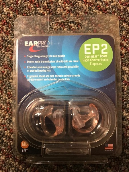 EP2 RADIO COMMUNICATION EARPIECES BY SUREFIRE