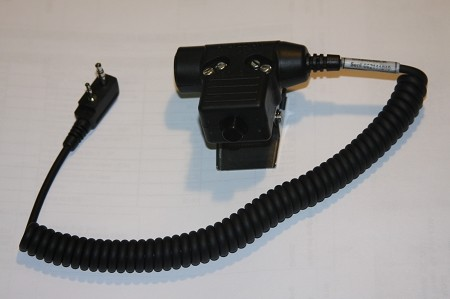 Headset Adapter with PUSH-TO-TALK for ICOM (Helicopter)
