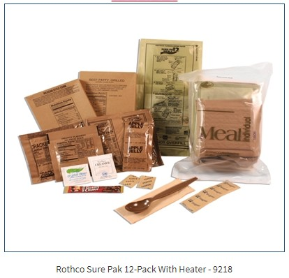 IN STOCK!!!!!!  SOPAKCO Sure Pak Complete  MRE Meals Ready To Eat 12-Pack With Heater From Sopakco
